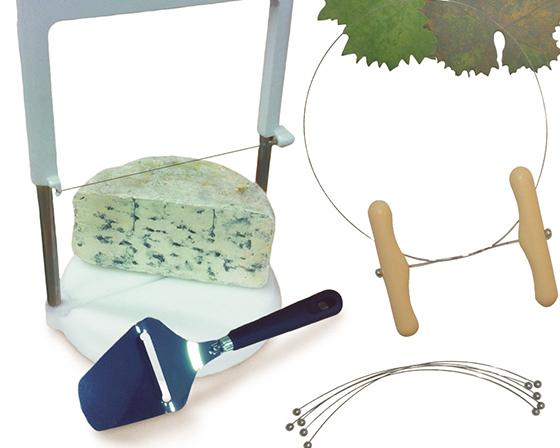 Accessoires de découpe : Lyres, fils à beurre, couteaux